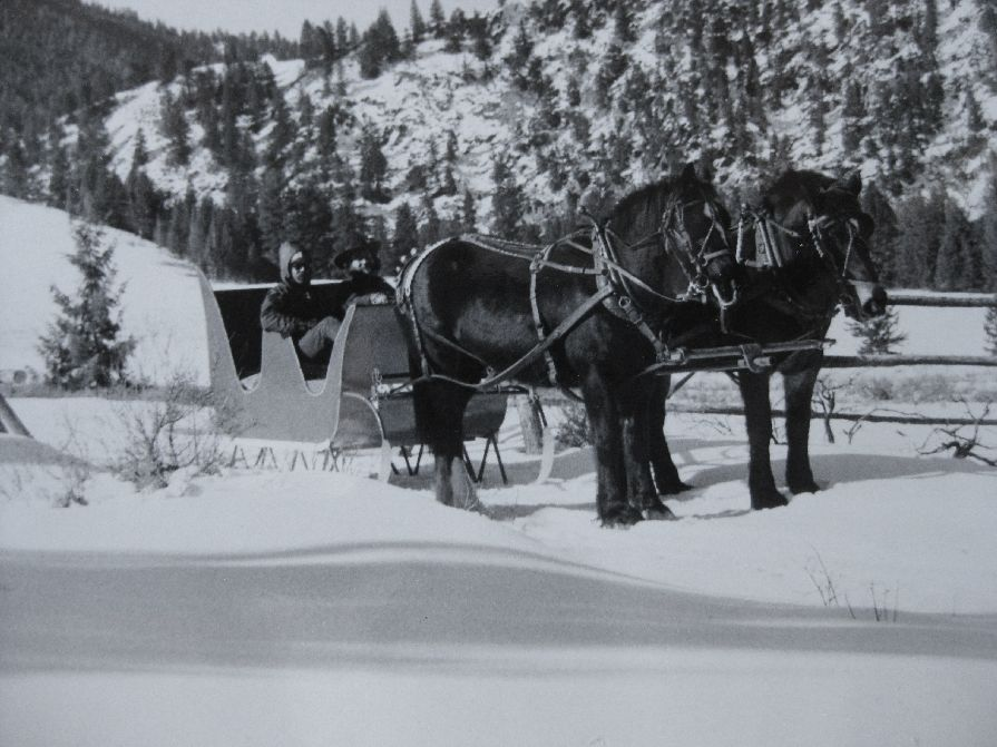 The only way into the ranch during the winter powered by our Clydesdale horses. Joe Leonard Photo