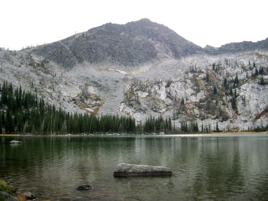 Grave Peak from Colt Lake. Dan Saxton Photo