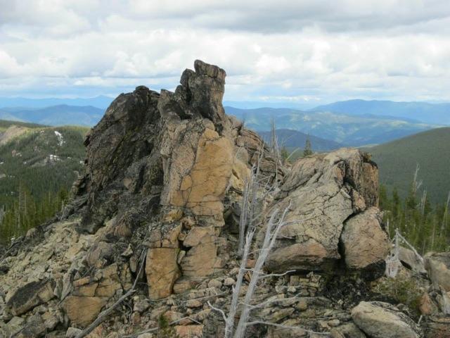 The summit pinnacle of Granite Peak. Dan Saxton Photo