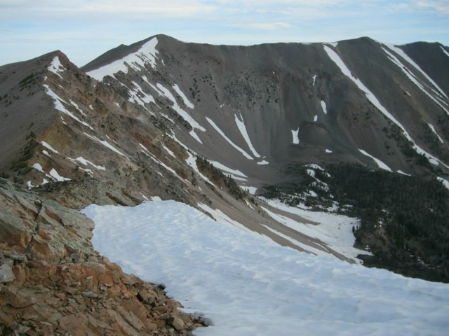 Long Mountain from the south - summit at right. Dan Saxton Photo