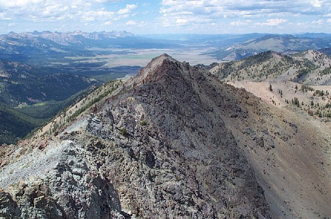 Bromaghin Peak from Saviers Peak. Dan Robbins Photo.
