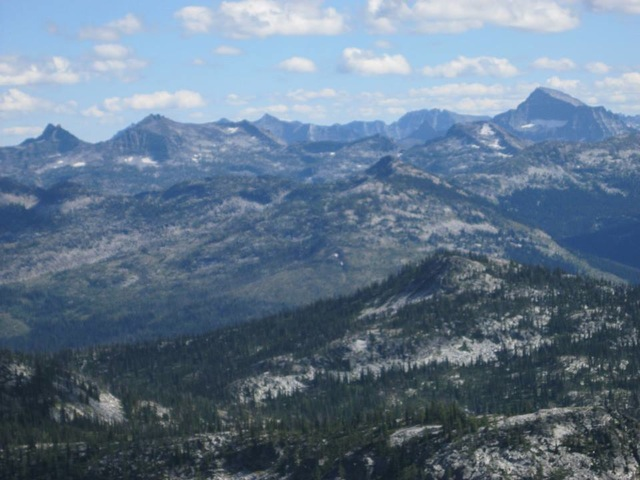 Some of the high Bitterroot peaks in Montana from Saddle Mountain. Dan Saxton Photo