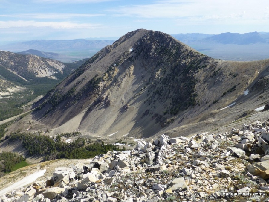 Portland Mountain from Peak 10723. Dan Rovbins Photo
