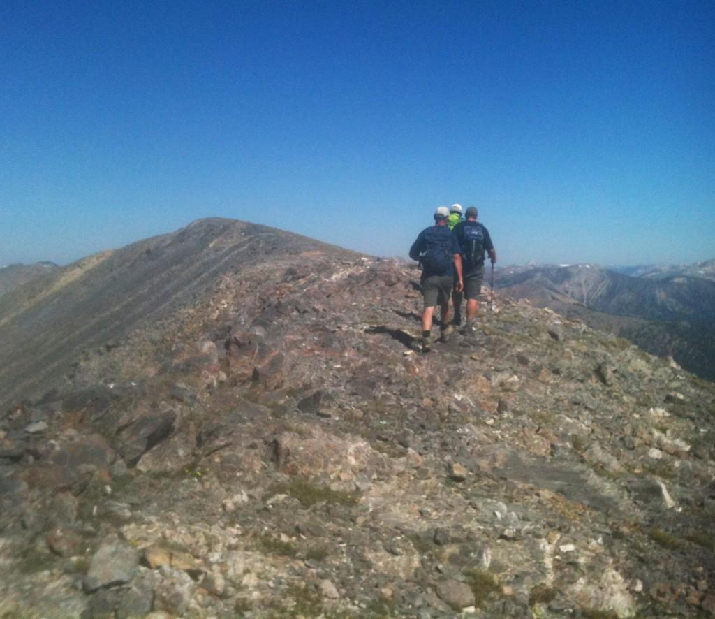 Meadow Peak's summit ridge.