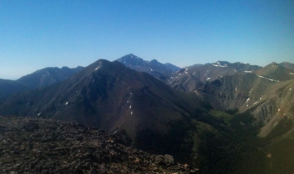 Looking south from Meadow Peak.