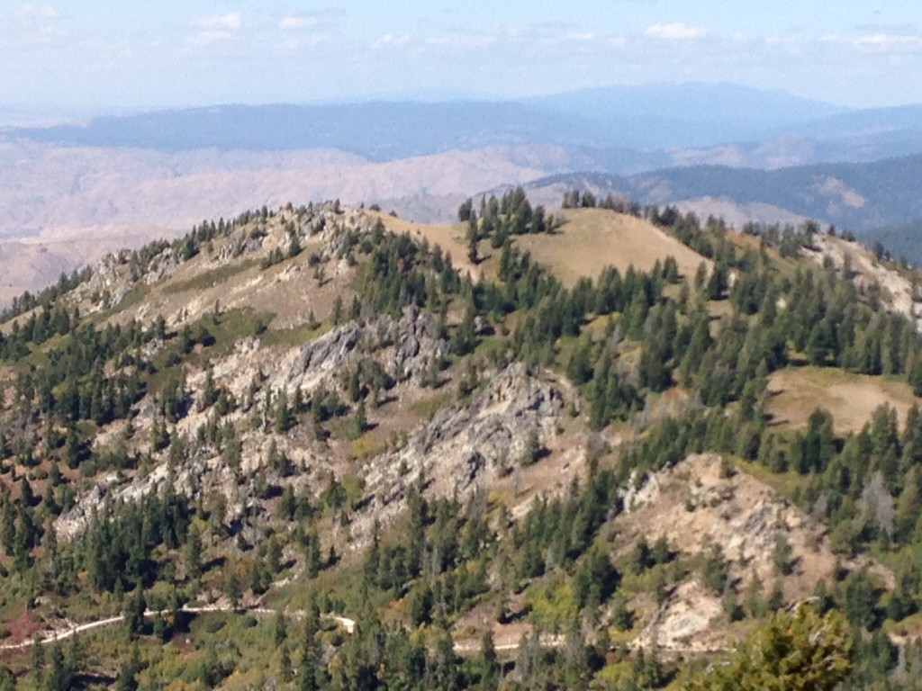 Mores Mountain viewed from Shafer Butte.