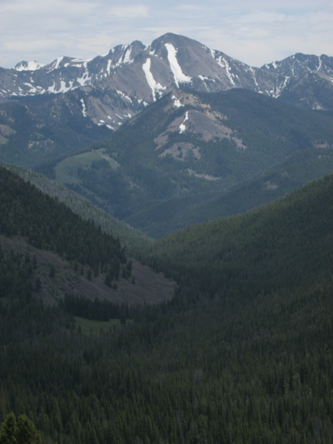 Hayden Creek Valley and Mogg Mountain (with Buffalo Skull Peak behind), from Long Mountain, Lemhi Range. Dan Saxton Photo