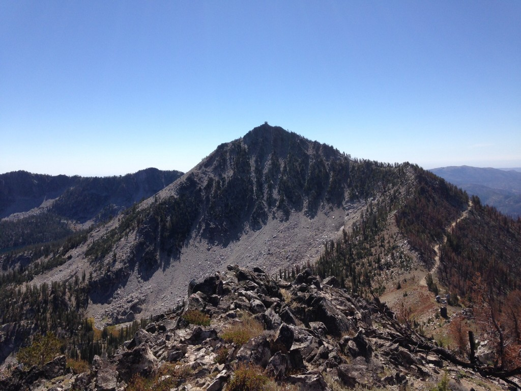 Trinity Peak and it's north face from the Fiddlers Perch.