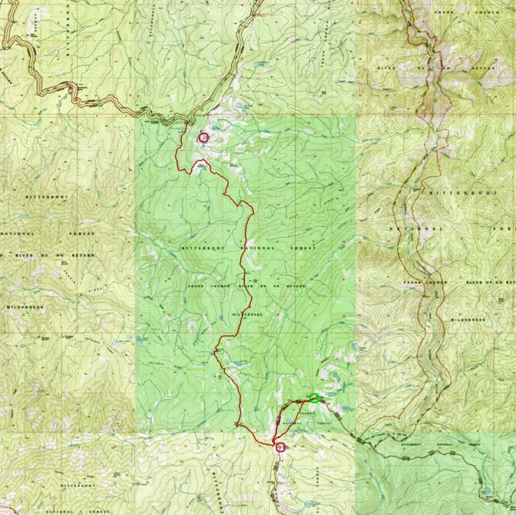 Ken's GPS track.