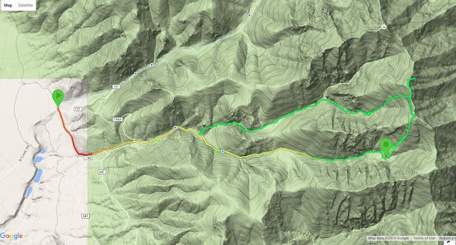 Larry Prescott's GPS track.