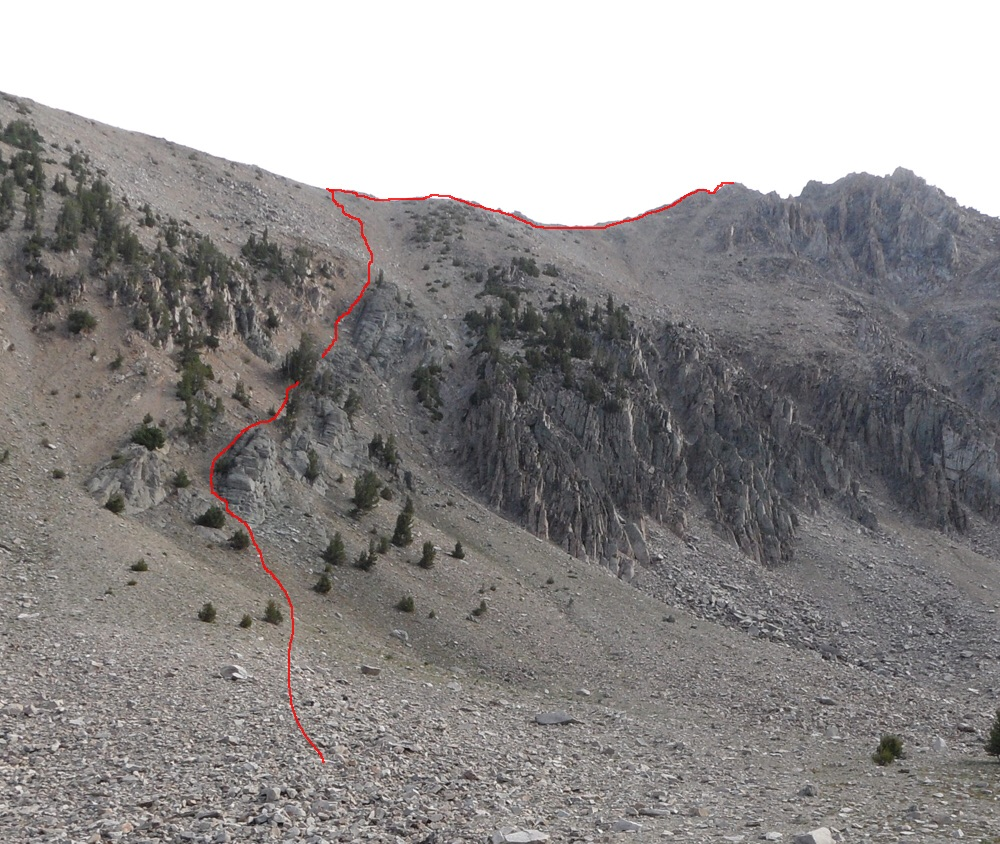 John Platt's route is shown on this photo.