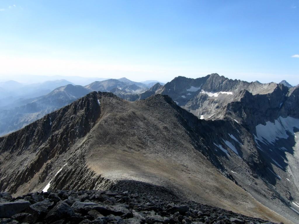 Peak 11580 (Recess Peak) from the Fin. George Reinier