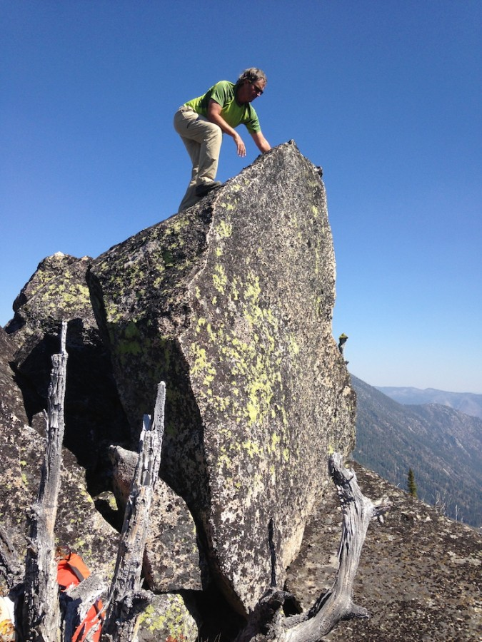 The second mm it of Flying Fish Peak will get you airborne. Julie Platt Photo