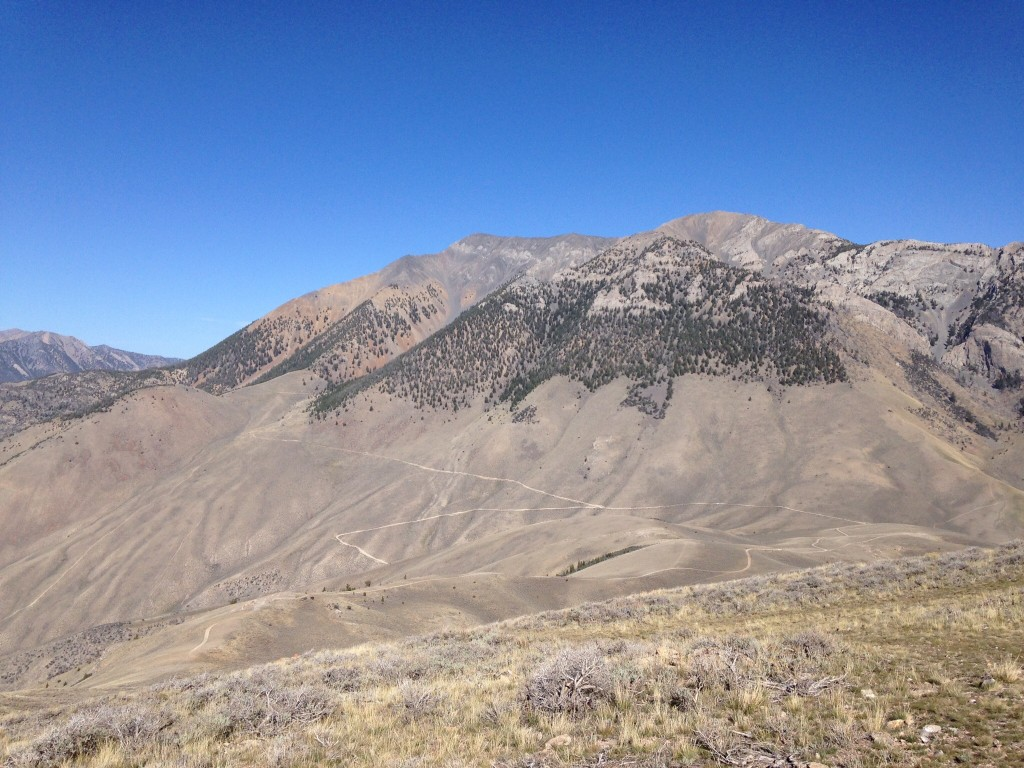 King Mountain from Peak 8150.