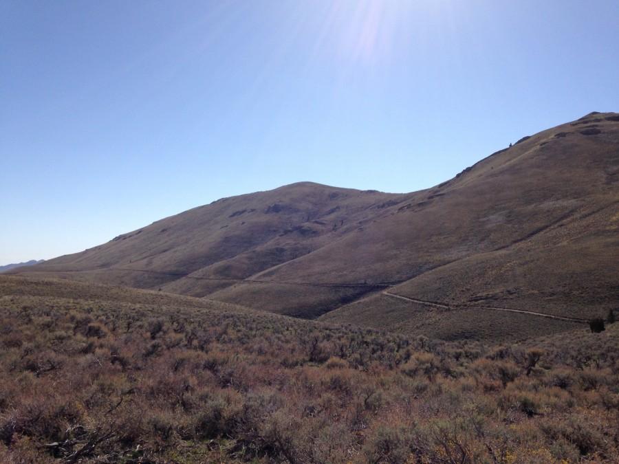 Peak 8082 viewed from near Beaverland Pass.