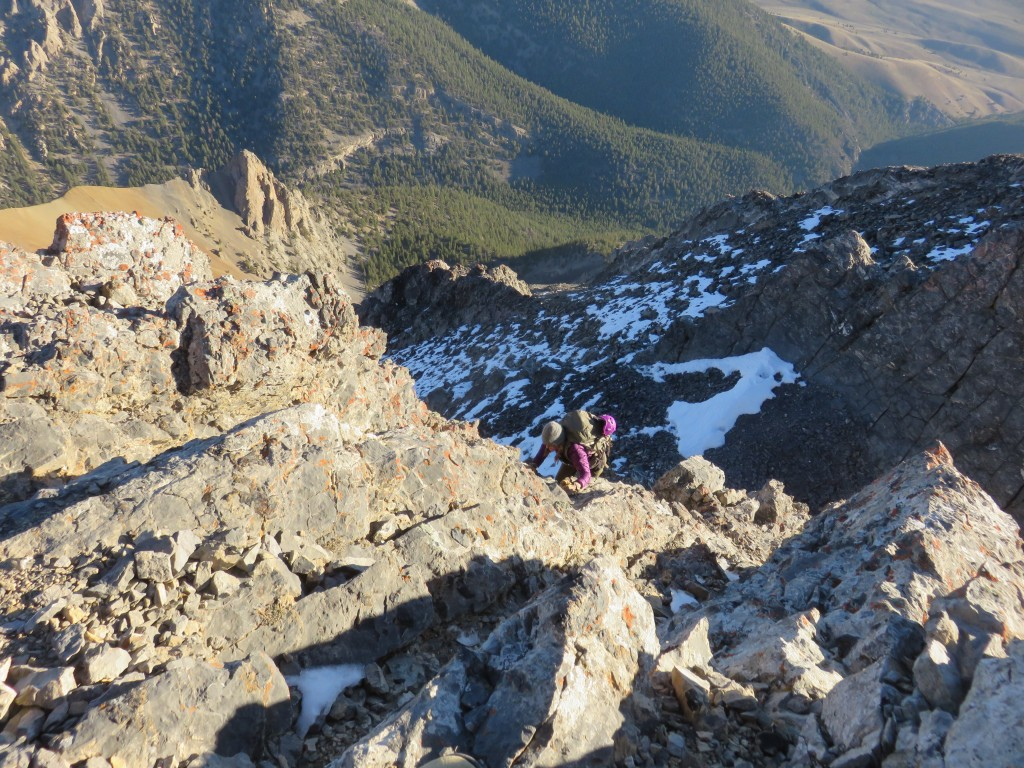 The east ridge is one of the longest, pure ridge routes in Idaho. Photo - Dan Paulson