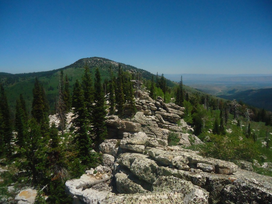 Castletop Peak's summit ridge. Matt Durrant Photo