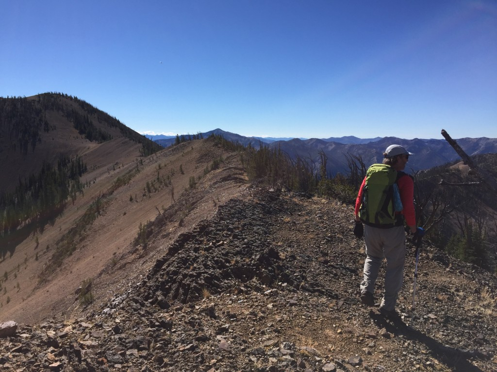 Once we got above treeline we still had a long way to go.