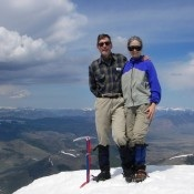 The second ascent team, Carl Hamke and Judi Steciak.