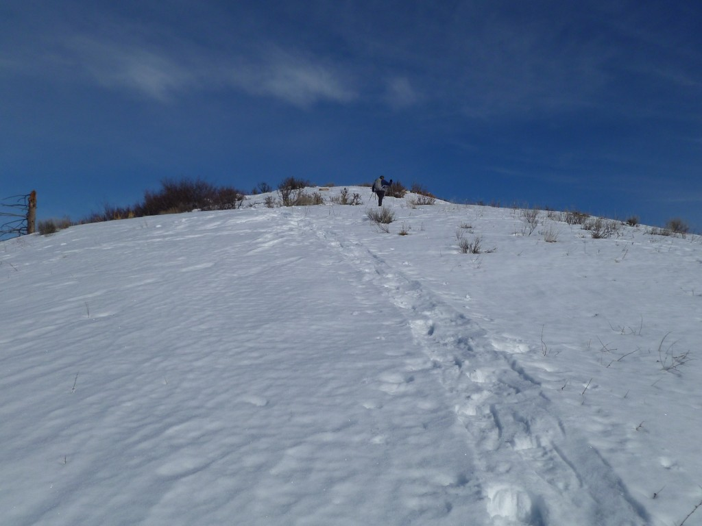 The slope leading to peak's shorter western summit. Gilbert Gallegos Photo