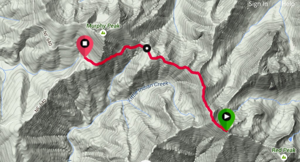 My GPS track for the return trip.