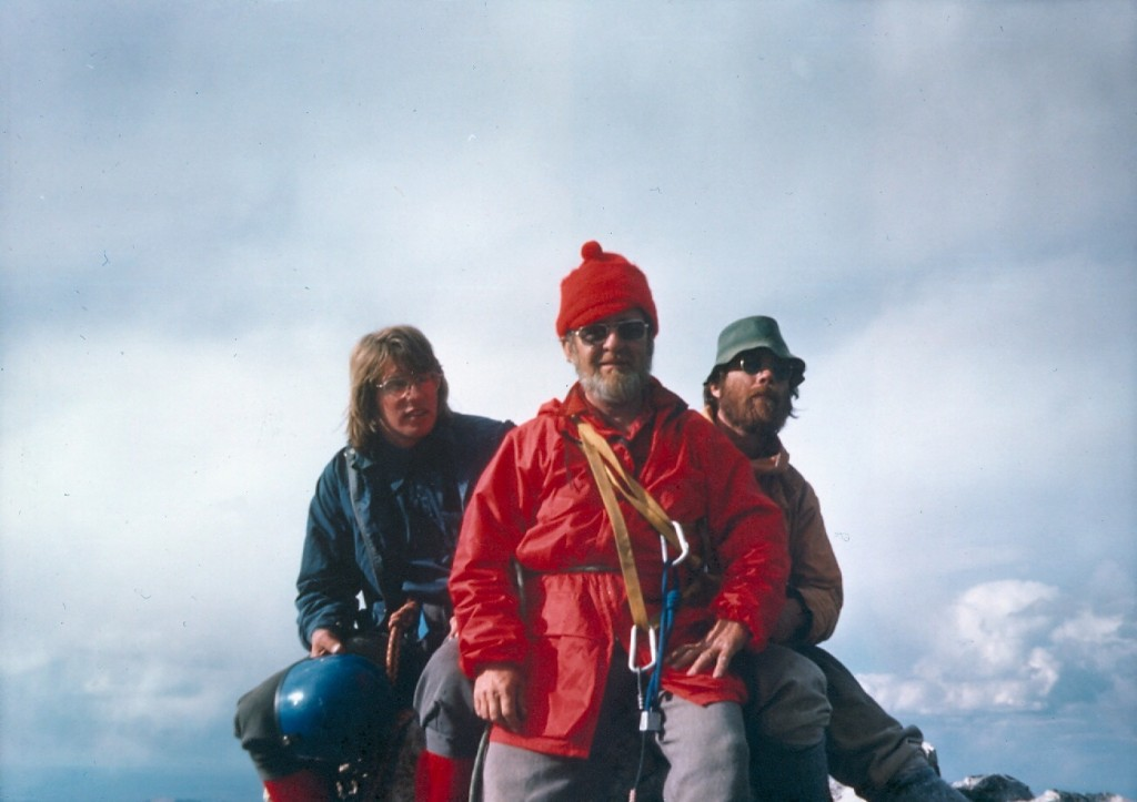 Bob Boyles, Lou and Frank Florence on the summit of the Grand Teton (photo by Mike Weber).