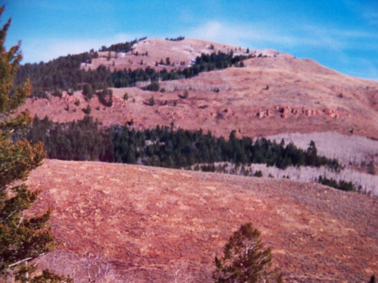 West aspect of Red Mountain, 10/26/01. Rick Baugher Photo