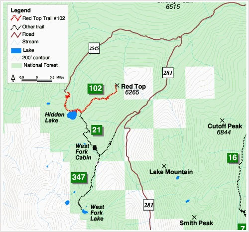 USFS Round Top map.