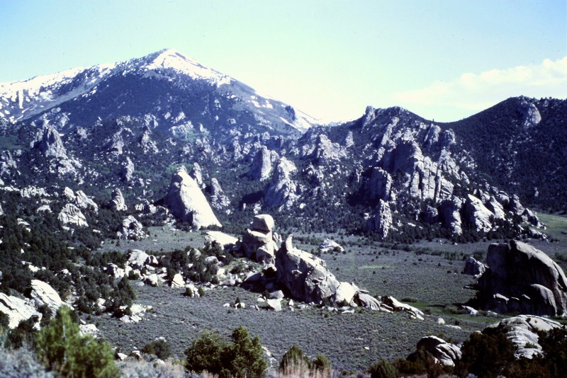 The City of Rocks with Graham Peak towering above it.