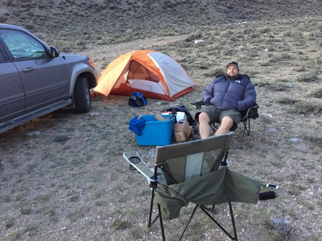 Dan Robbins enjoying a balmy March evening in Rocky Run Canyon.