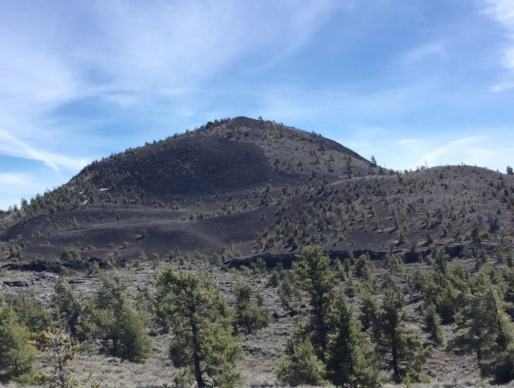 Big Cinder Butte viewed from the Tree Molds parking lot.