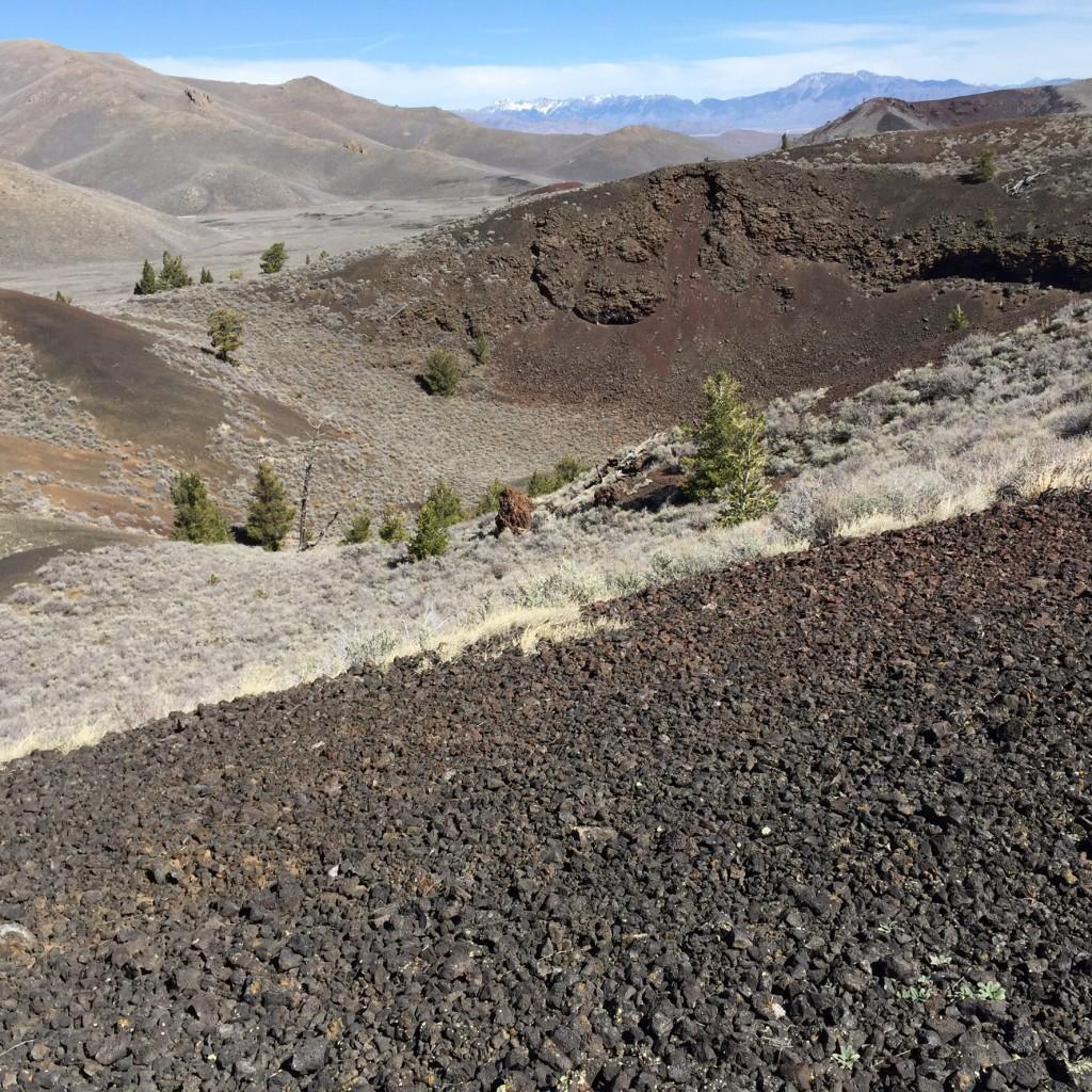 Grassy Cone's crater.