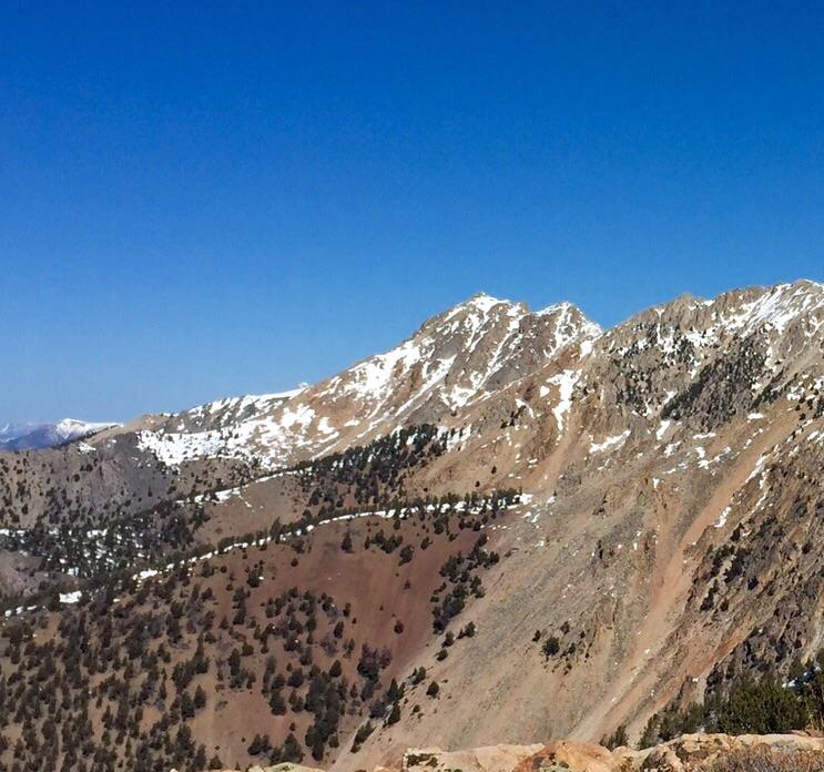 Nicholson Peak viewed from Sunny Bar Peak.