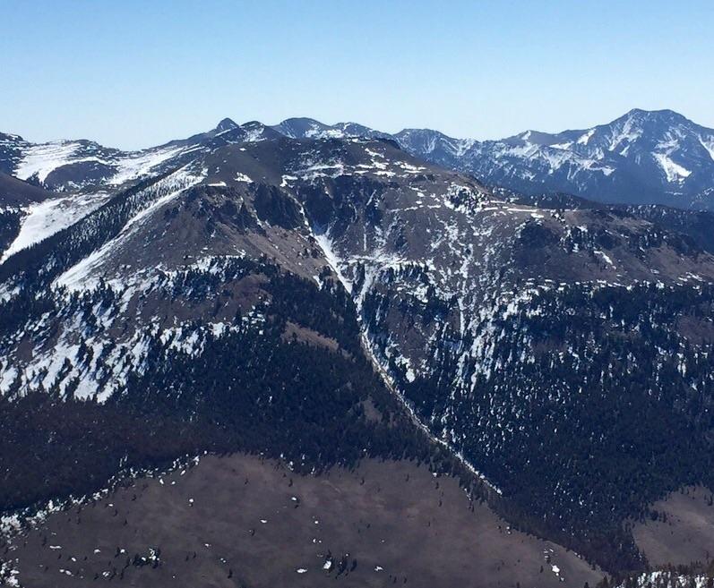 Buckhorn Peak viewed from sunny Bar Peak.