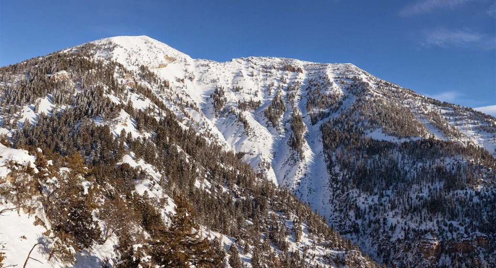 Baldy Mountain in the Snake River Range in January of 2015. Larry Prescott Photo.