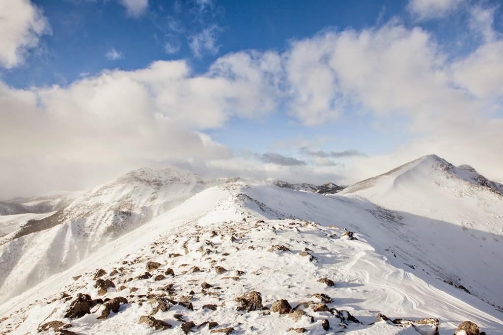 Heart Mountain's summit ridge with the summit on the right. Larry Prescott Photo