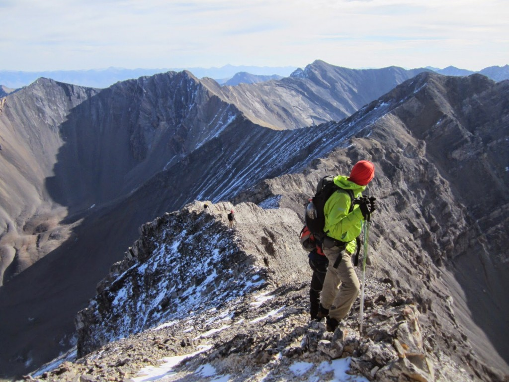 A view looking down the ridge, about midway to the summit. Photo - Larry Prescott
