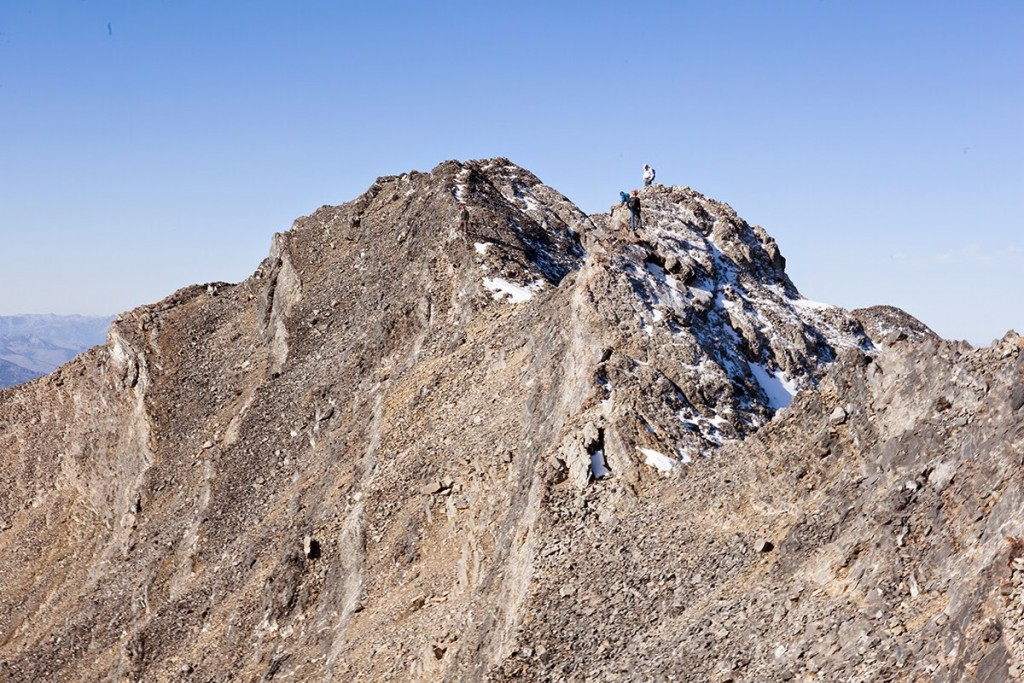 The last section of the east ridge looking to the summit of Mount Church. Photo - Larry Prescott