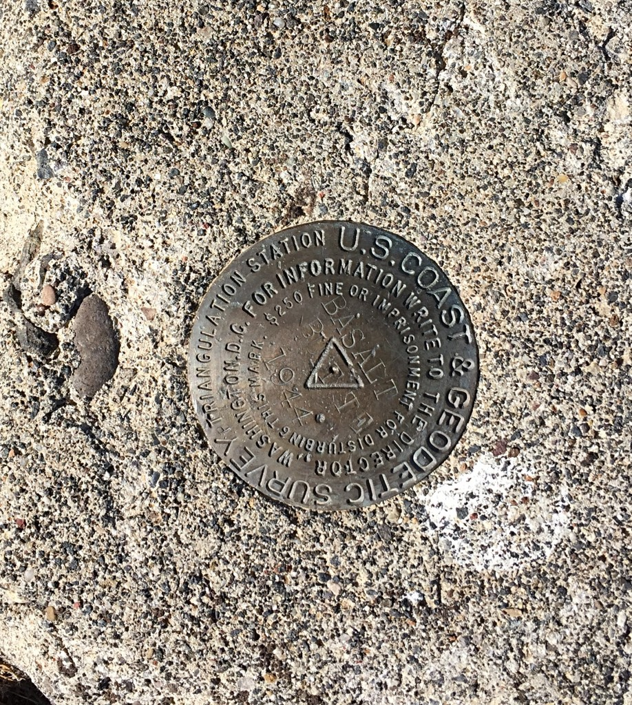 The benchmark on the summit.