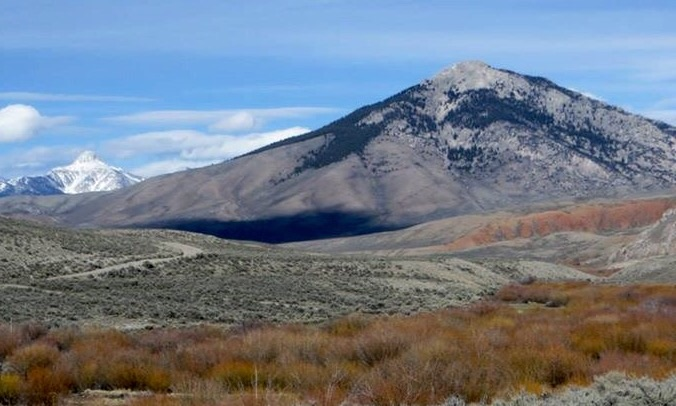 Hawley Mountain viewed from the west along the Pass Creek Road. Steve Mandella Photo
