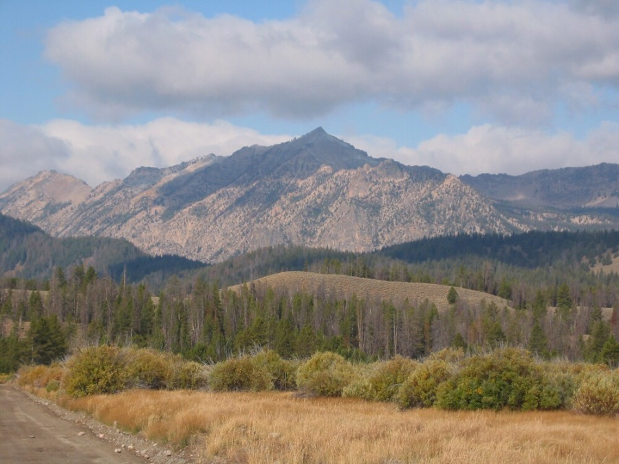 Imogene Peak viewed from US-93 and the Petitt Lake Road. John Platt Photo.