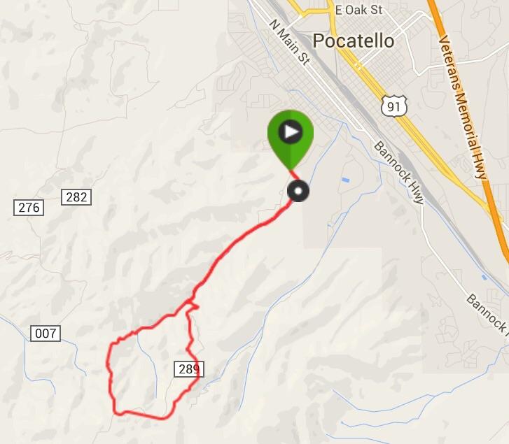 Steve Mandella's GPS track.