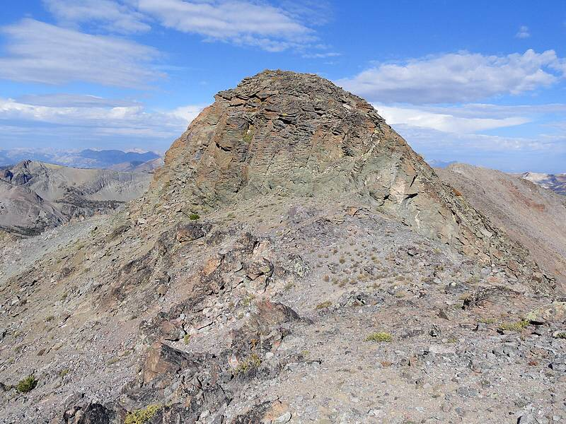 Alta Peak's summit block. Dave Pahlas Photo