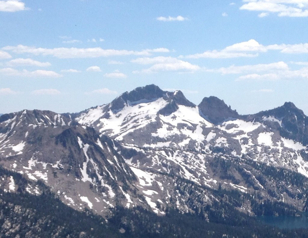 Snowyside Peak from Imogene Peak.
