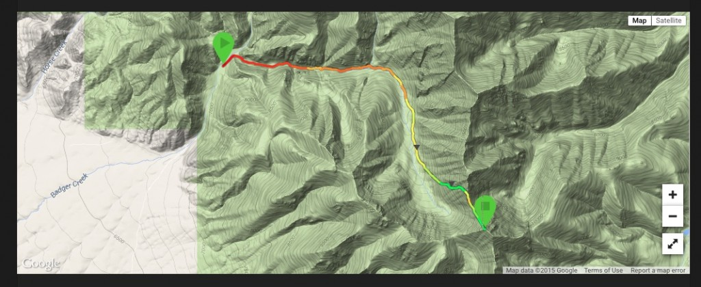 Larry Prescott's GPS track for Little Diamond Peak via Bunting Canyon.