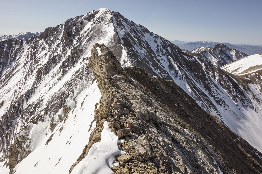 The Close Shave ridge section with Little Diamond Peak in the background. Larry Prescott Photo