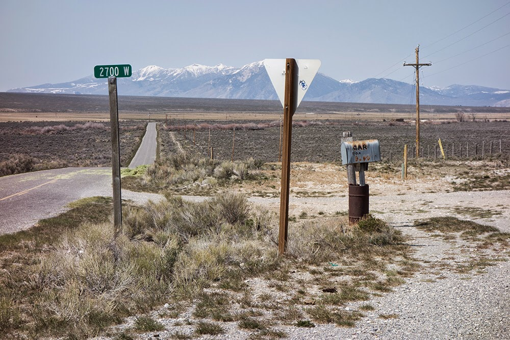 Larry provided this photo of the turn fromthe Little Lost Highway for the Badger Creek Road.