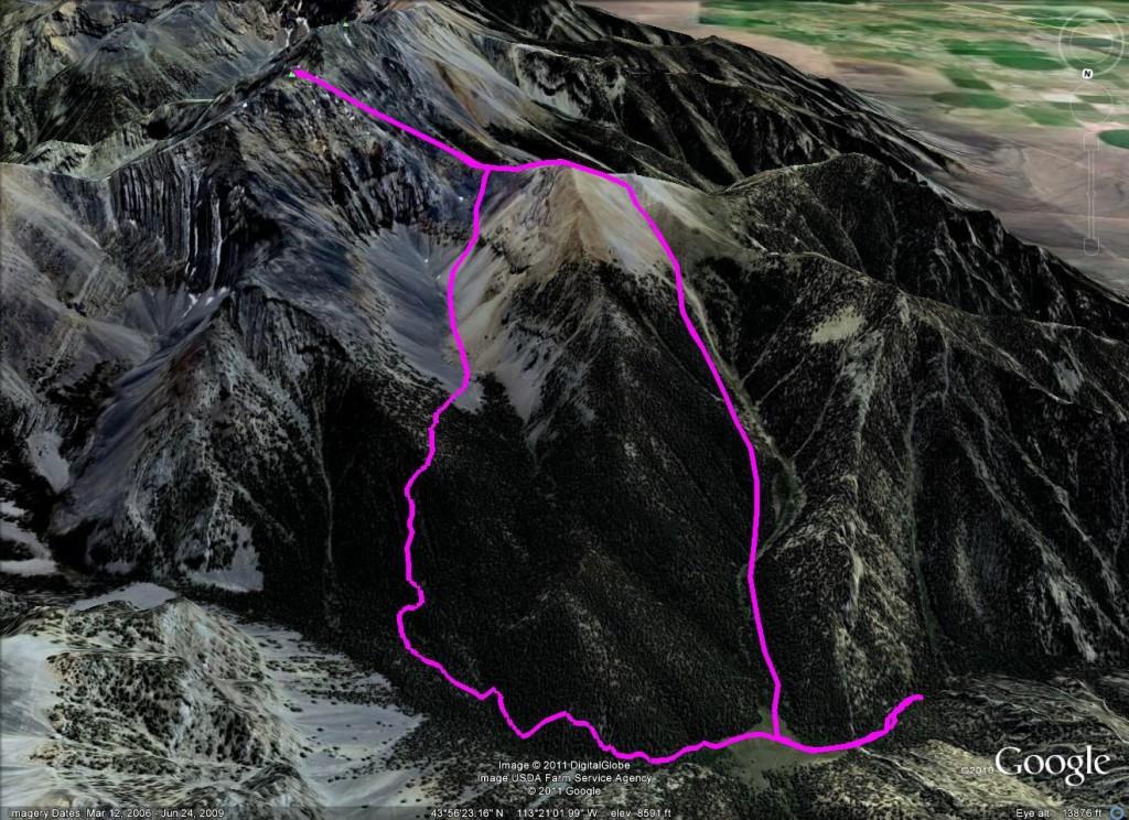 Marla Mandella's GPS track.