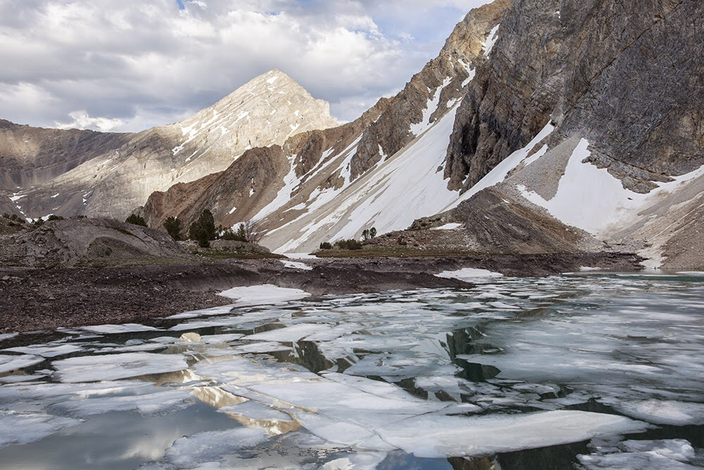 Looking toward Leatherman Peak from Pass Lake. June, 2014. Larry Prescott Photo