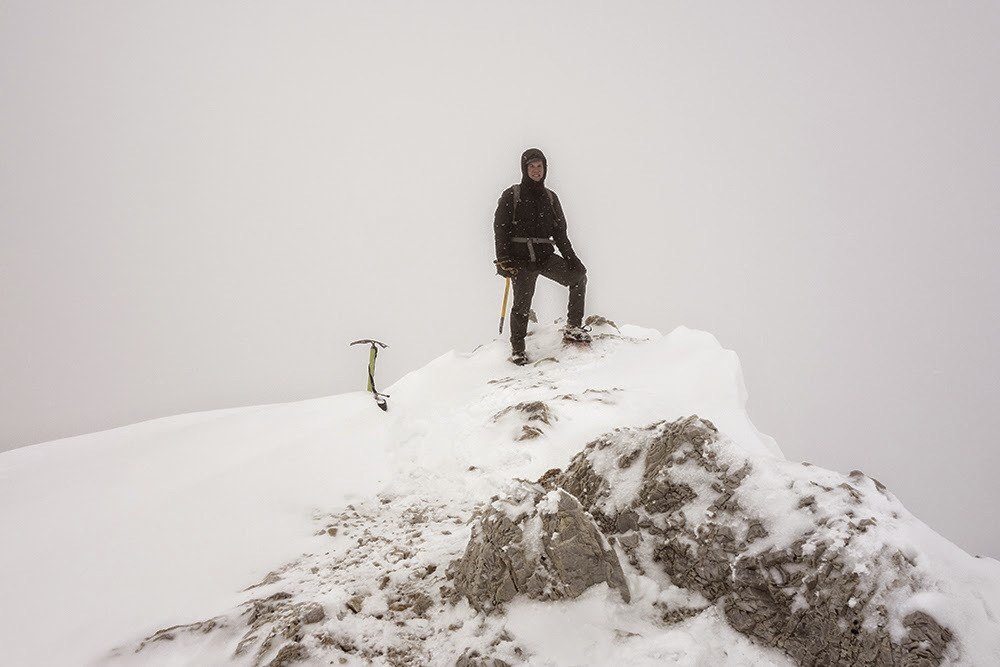 Scott Gifford on the summit. Larry Prescott Photo